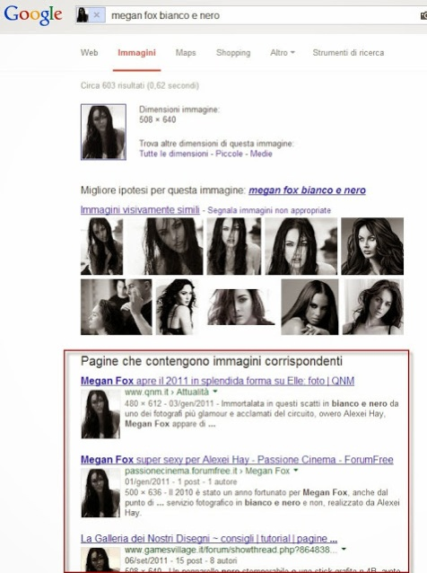 Risultato ricerca Google Immagini